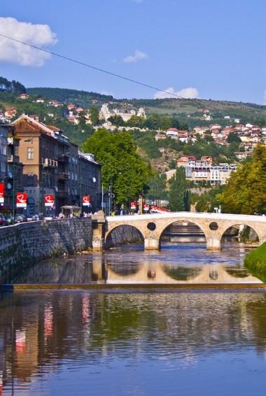 The city of Sarajevo in Bosnia & Herzegovina