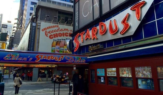 The exterior of Ellen's Stardust Diner in New York City
