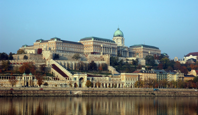 Buda Castle on the edge of the Danube River in Budapest, Hungary