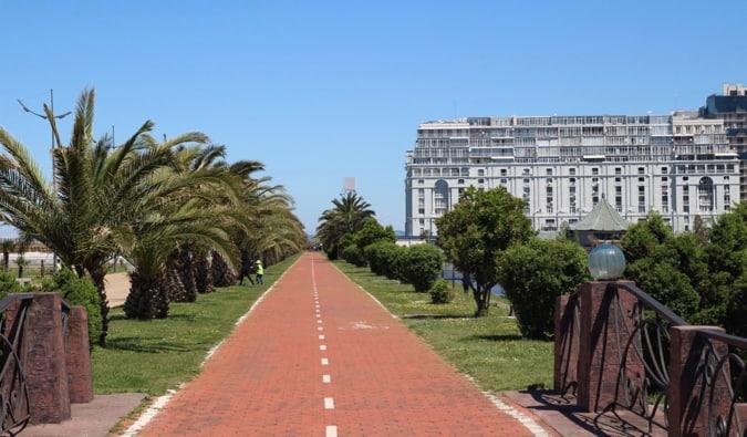 A sunny day on the coast of Georgia in Batumi