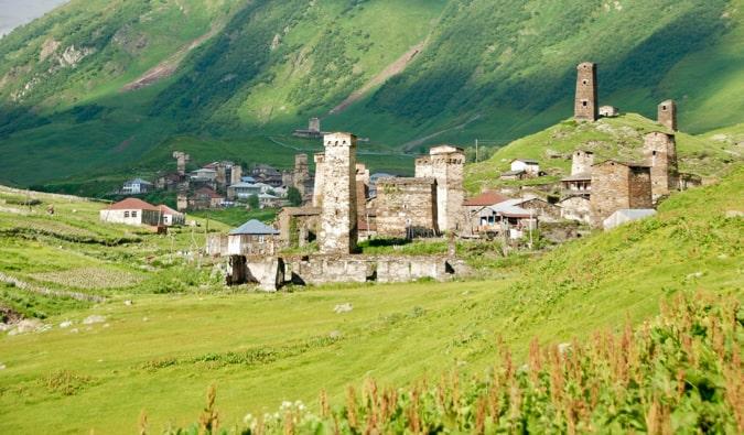 The mountainous Svaneti region of Georgia