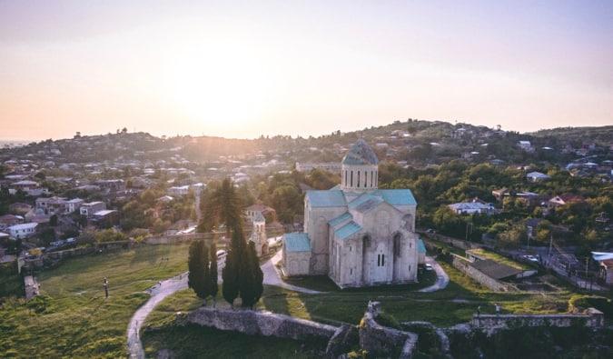 A lone church on a small hill in Georgia