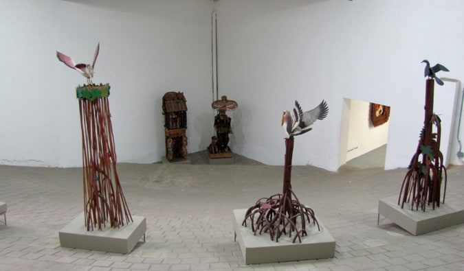 One of the many modern art exhibitions in the Museum of Modern Art in Medellín, Colombia