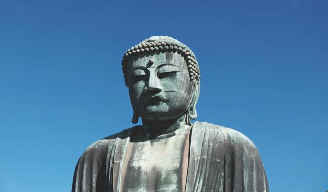 the giant Buddha statue near Tokyo called Daibutsu