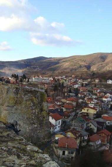 an areal view of the town of Trebinje in Bosnia & Herzegovina