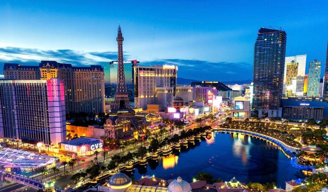 The bright lights of Las Vegas, USA at night