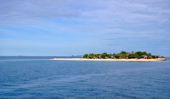 The tiny island of Beachcomber in the Yasawa Islands in Fiji