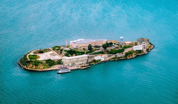 The infamous Alcatraz prison on an island off of San Francisco, USA