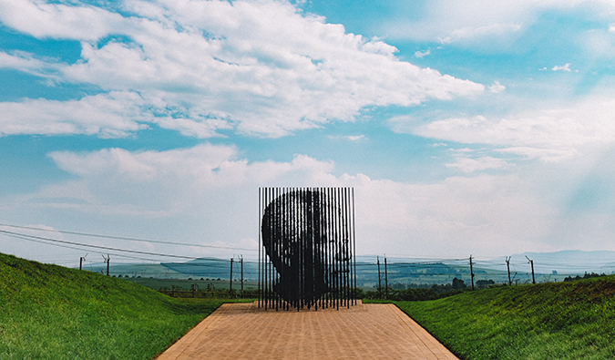 Nelson Mandela monument in South Africa