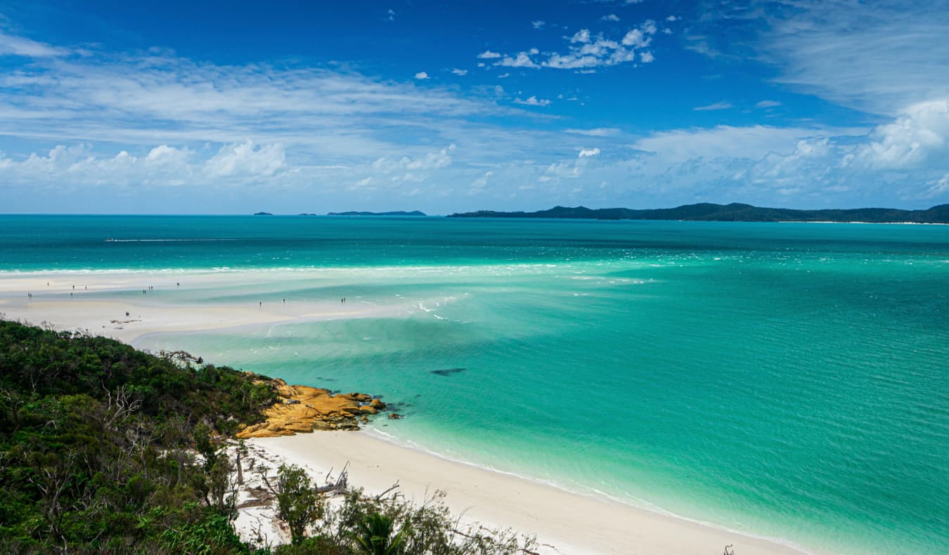 A beautiful beach on a sunny day in the Whitsundays, Australia