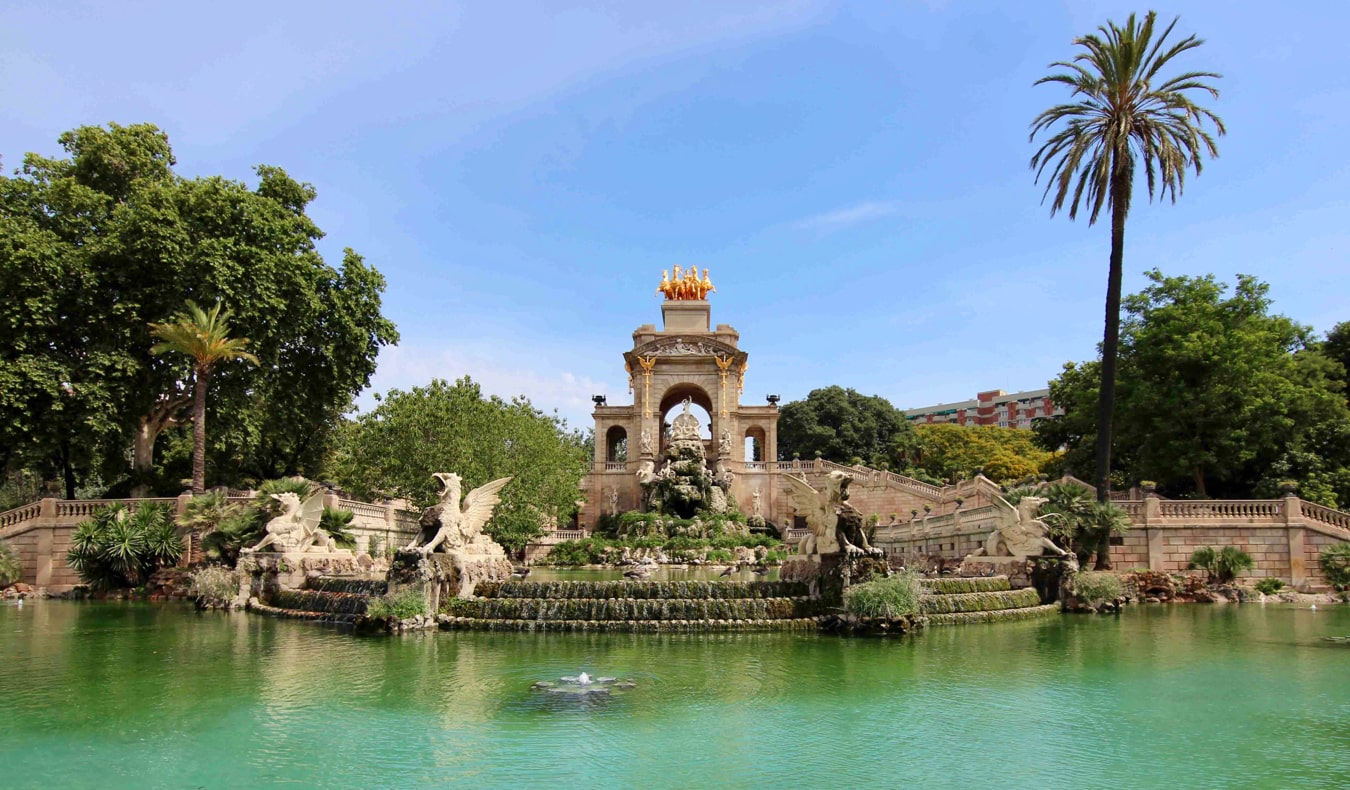 The famous Parc de la Ciutadella in Barcelona, Spain