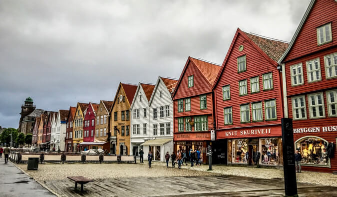 The Bryggen district of Bergen, Norway