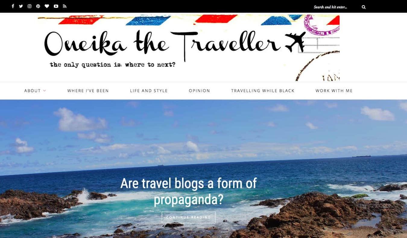 oneika the traveller blog screenshot