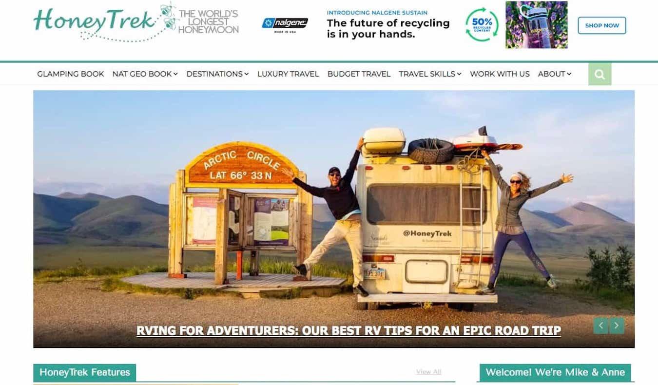 HoneyTrek blog screenshot