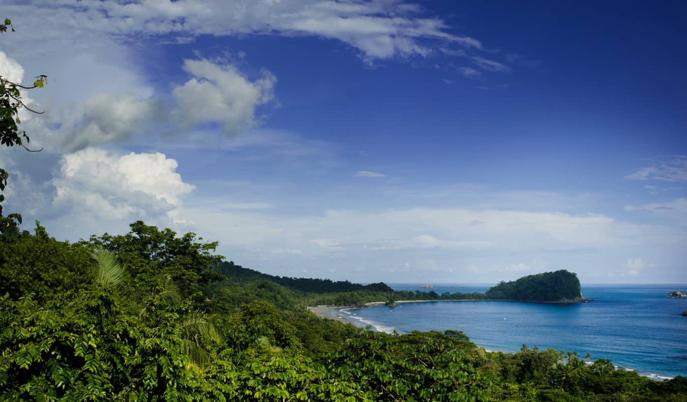 The jungles and coastline of Manuel Antonio in Costa Rica