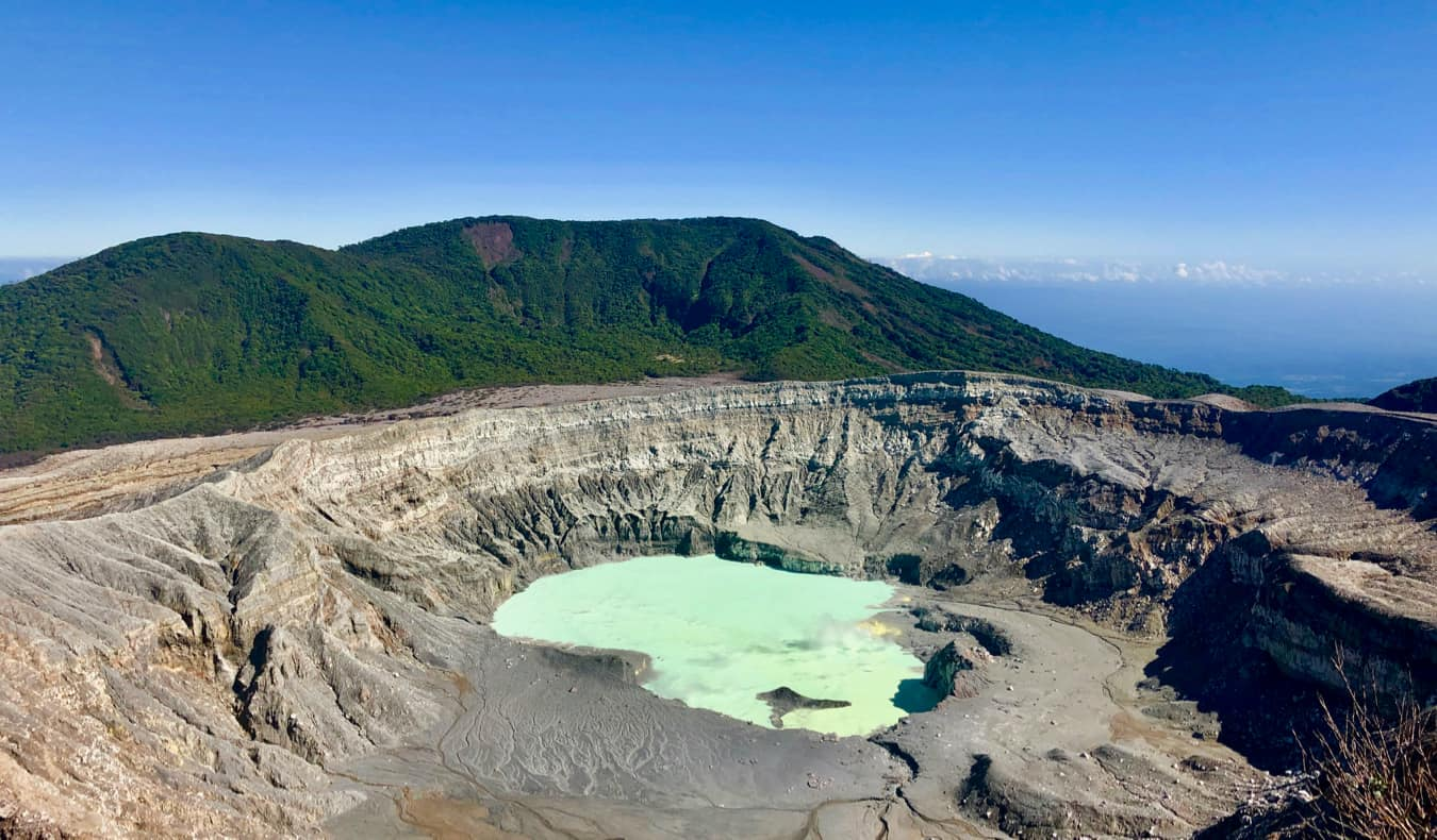 The caldera of the Poas Volcano in Costa Rica
