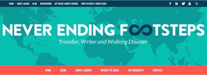 never ending footsteps blog screenshot