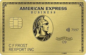 the AmEx Gold Business card