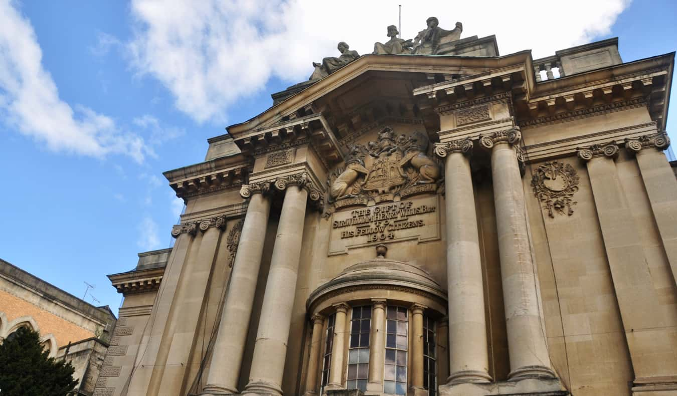 The exterior of the Bristol Museum and Art Gallery in Bristol, UK