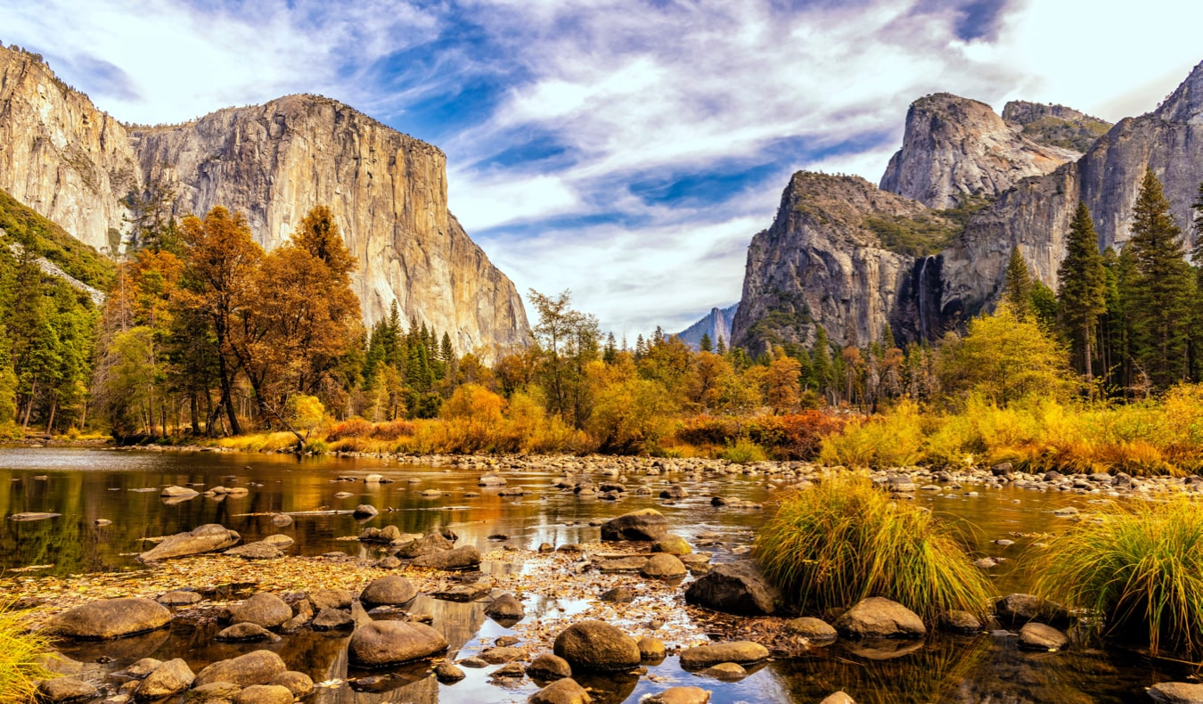 The beautiful scenery of Yosemite National Park, California