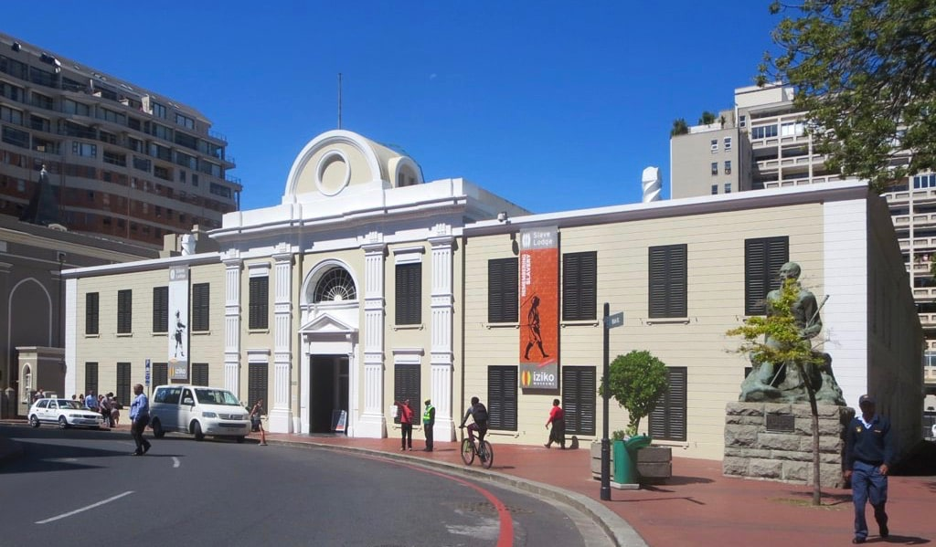 The exterior of Slave Lodge in Cape Town, South Africa