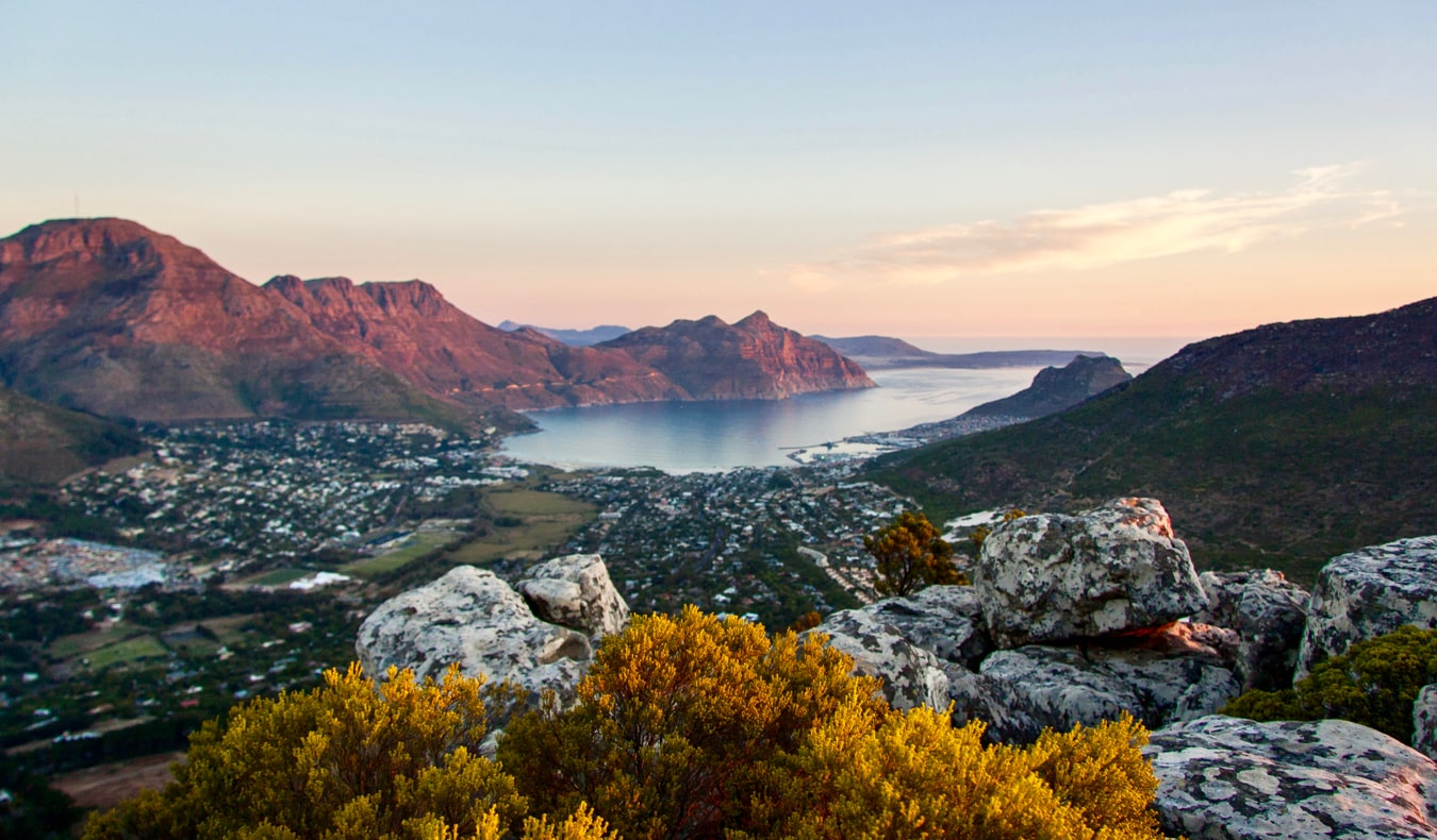 The rocky coastal hills near Hout Bay near Cape Town, South Africa