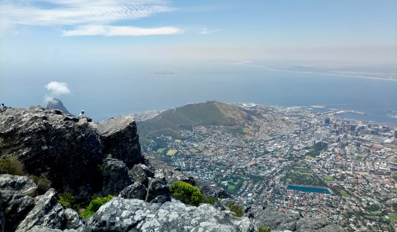 The view from Table Mountain in Cape Town, South Africa