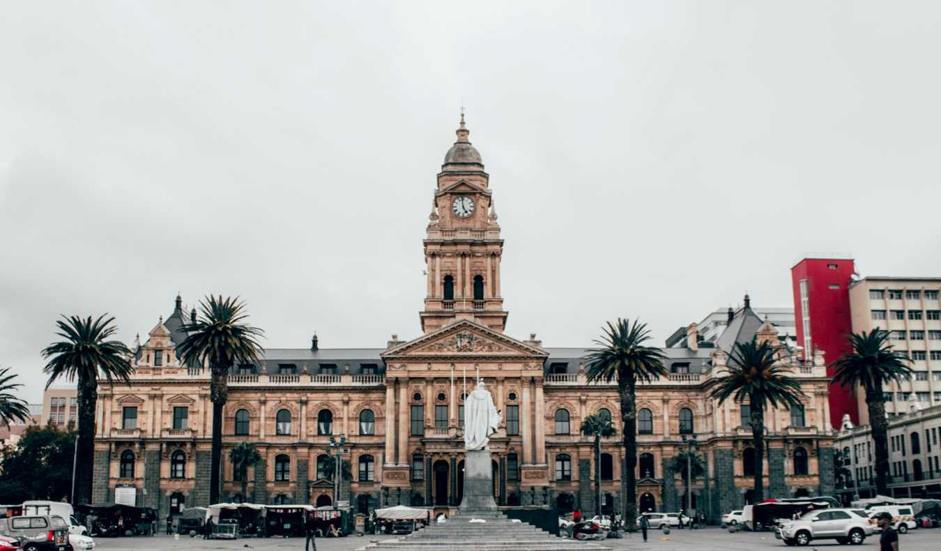 The historic city center of Cape Town, South Africa