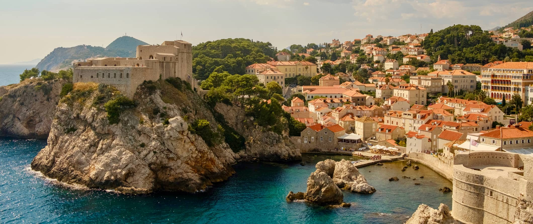 The rugged coast of Croatia enveloped by historic buildings and architecture