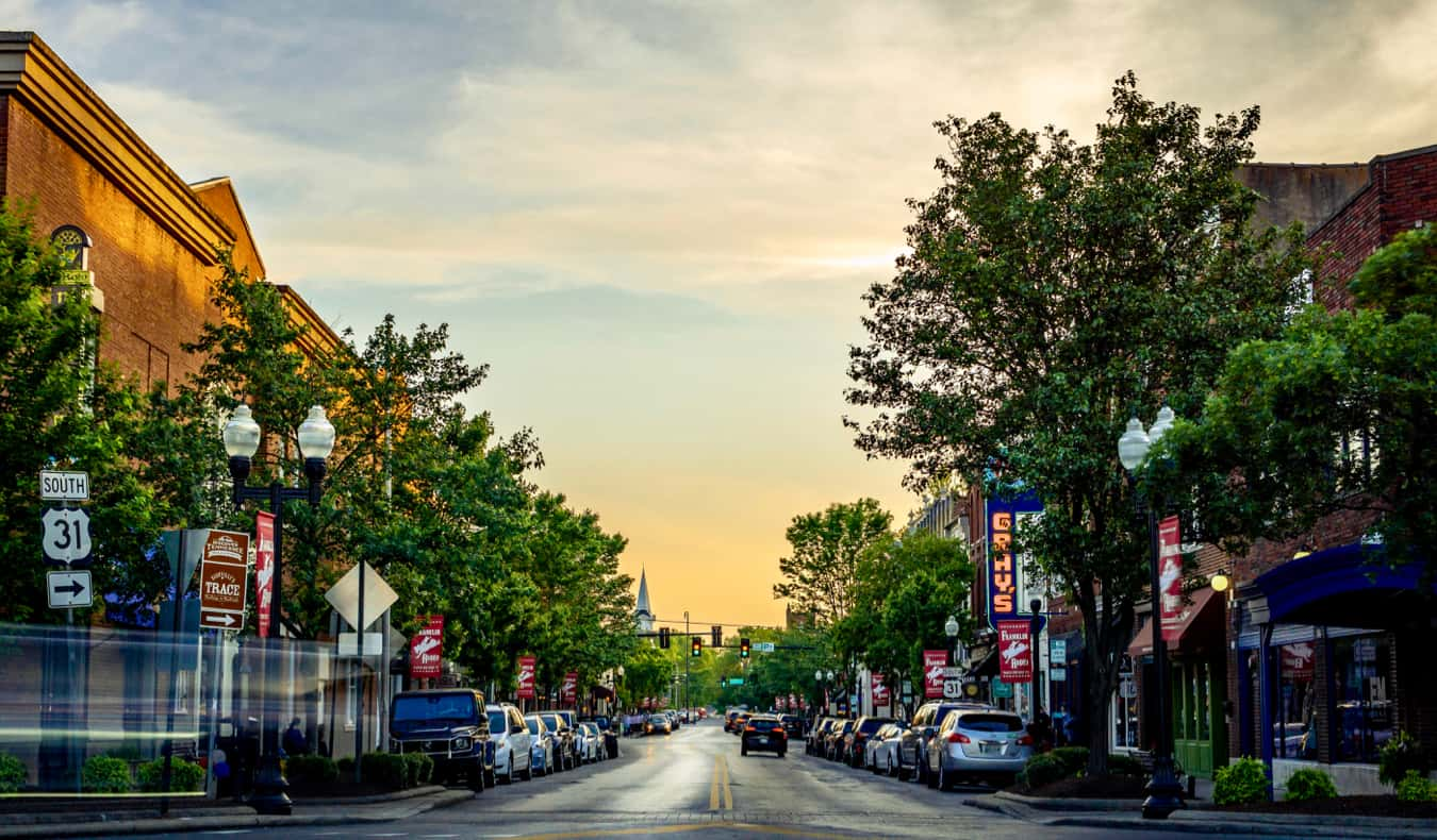 Downtown in Franklin, Tennessee, USA