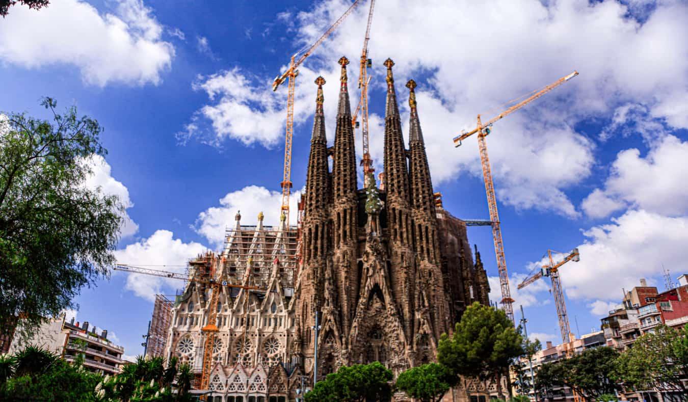 The famous cathedral La Sagrada Familia in Barcelona, Spain