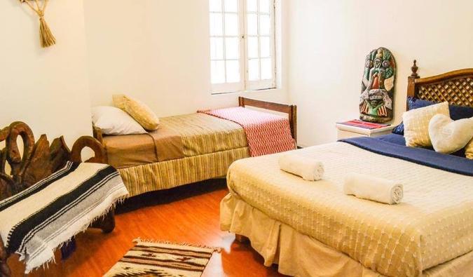 L'une des chambres partagées de l'Hostel Home, Mexico