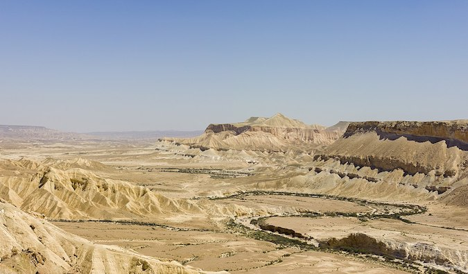 The sprawling and arid Negev Desert in Israel
