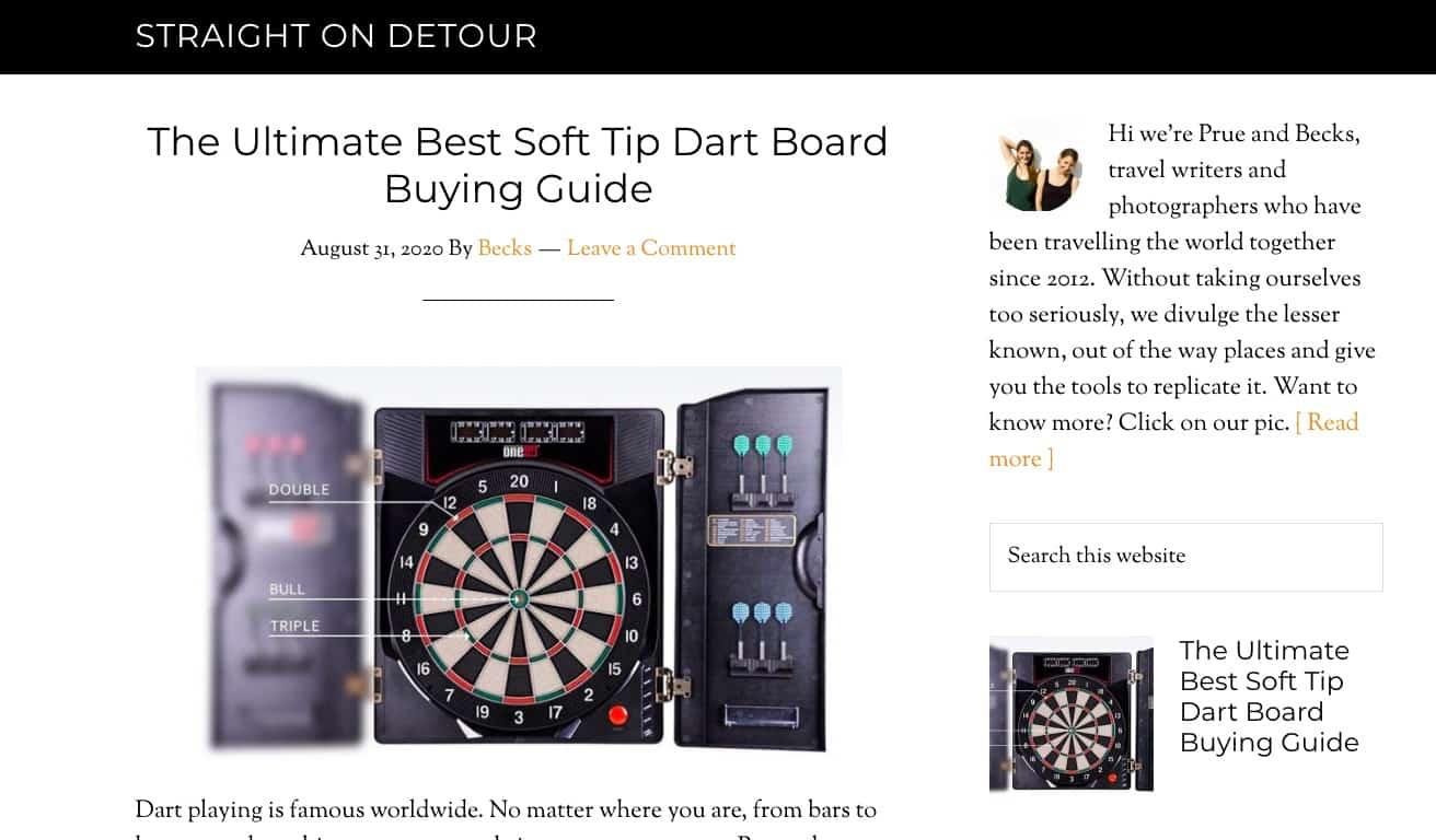 Straight On Detour website screenshot