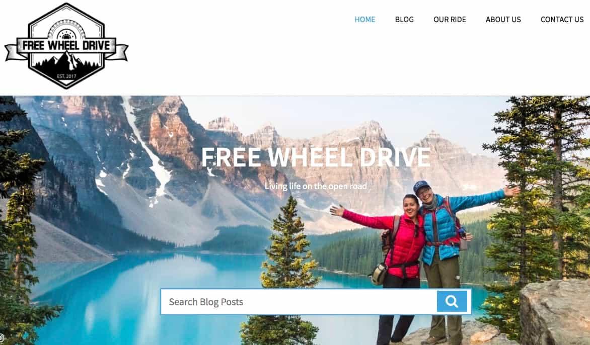 Free Wheel Drive website screenshot