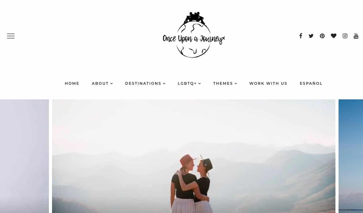Once Upon A Journey website screenshot