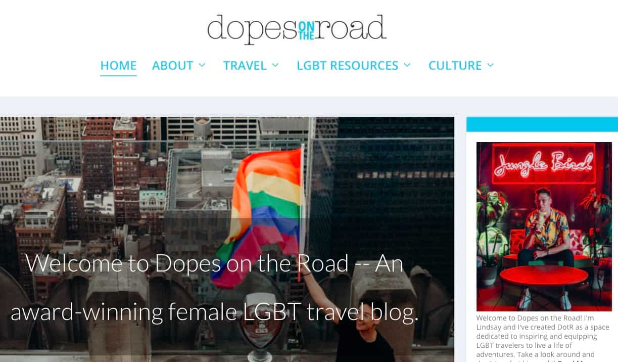 Dopes on the Road website screenshot