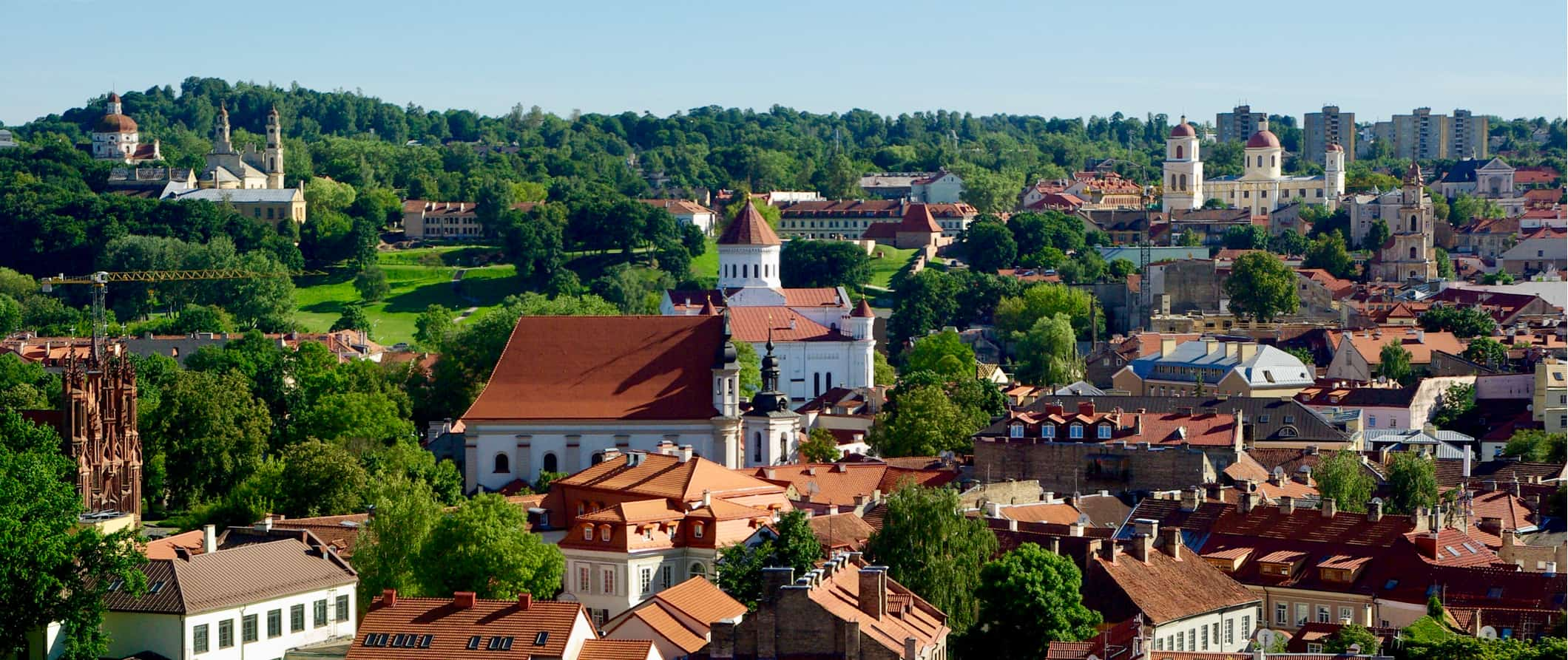 Historic buildings and forests in Lithuania