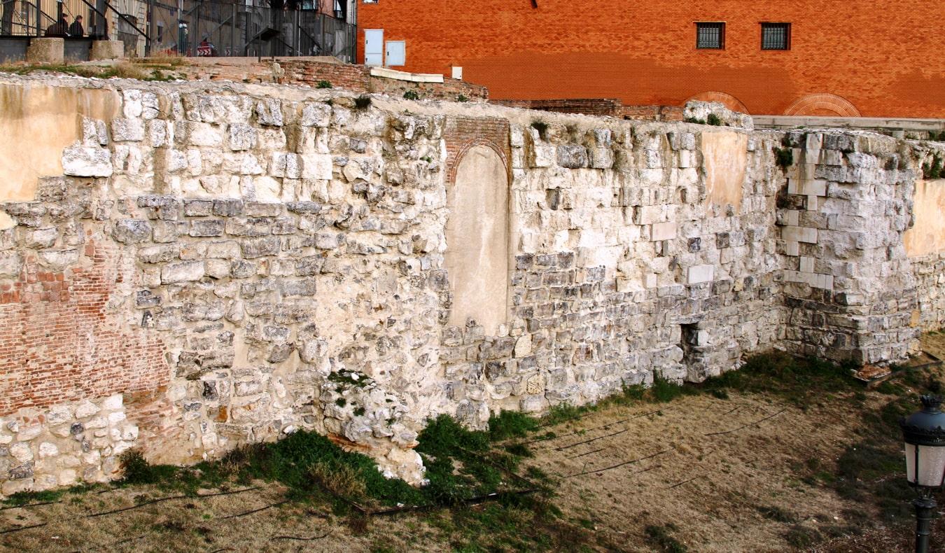 The ancient Muslim Walls in Madrid, Spain