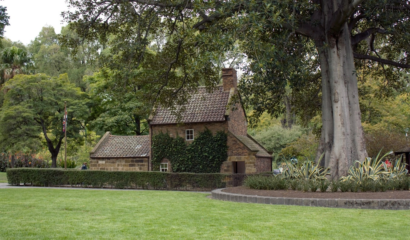 The cozy and well-maintained Fitzroy Gardens in Melbourne, Australia