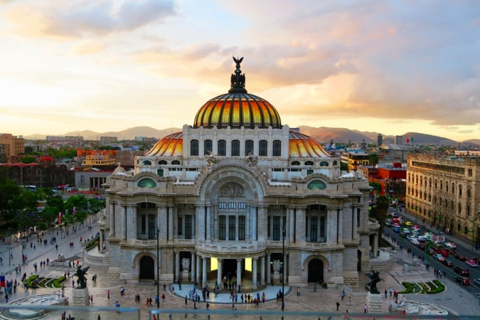 One of the many beautiful historic buildings in Mexico City