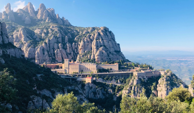 The stunning Monserrat mountains near Barcelona, Spain