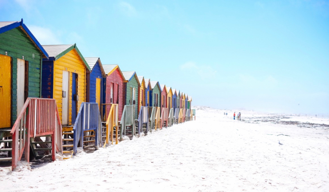 The famous Muizenberg Beach in South Africa