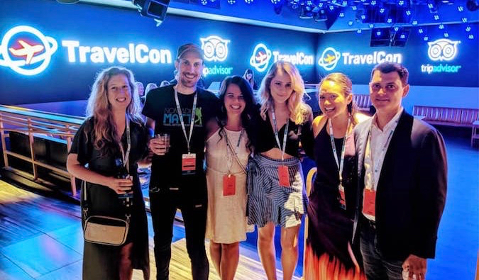 the Nomadic Matt team at the TravelCon conference