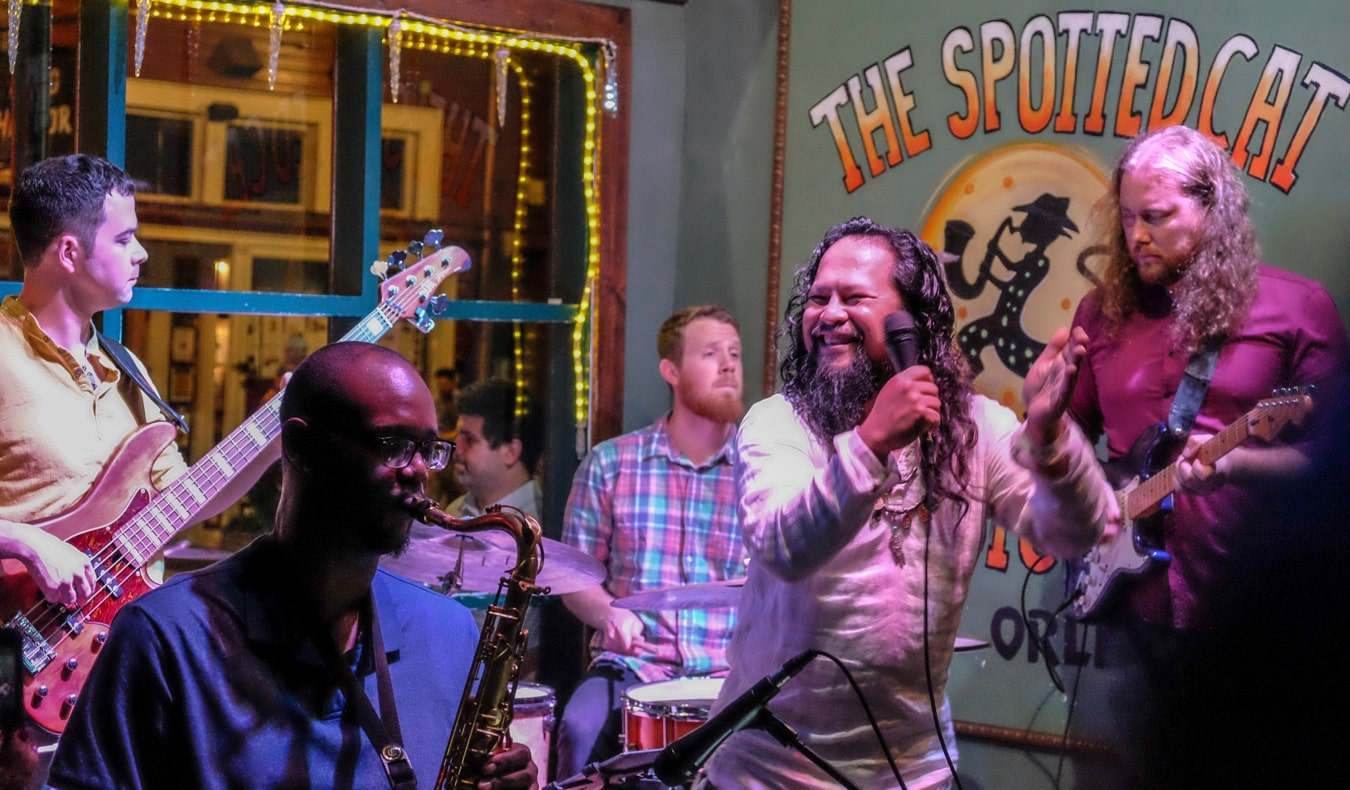 Live jazz music at the Spotted Cat in New Orleans, USA