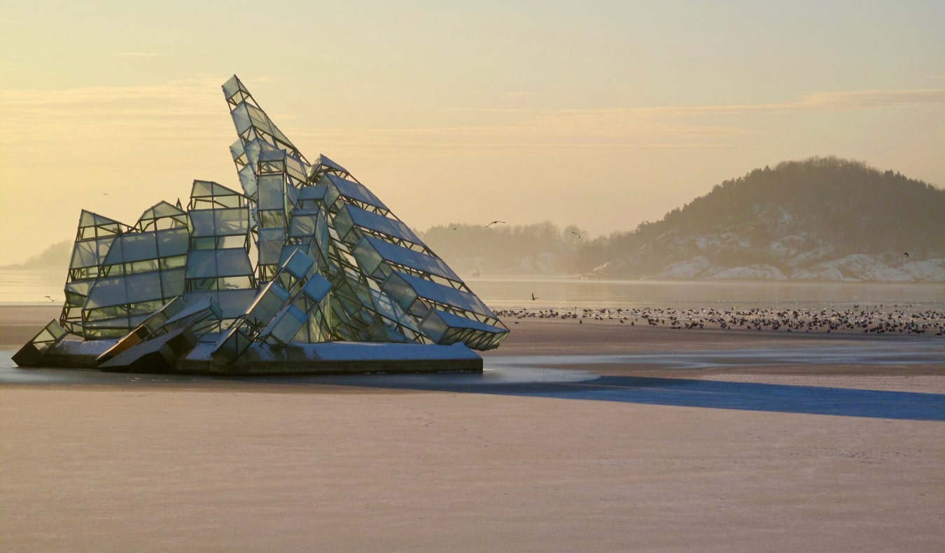 The She Lies sculpture in Oslo, Norway