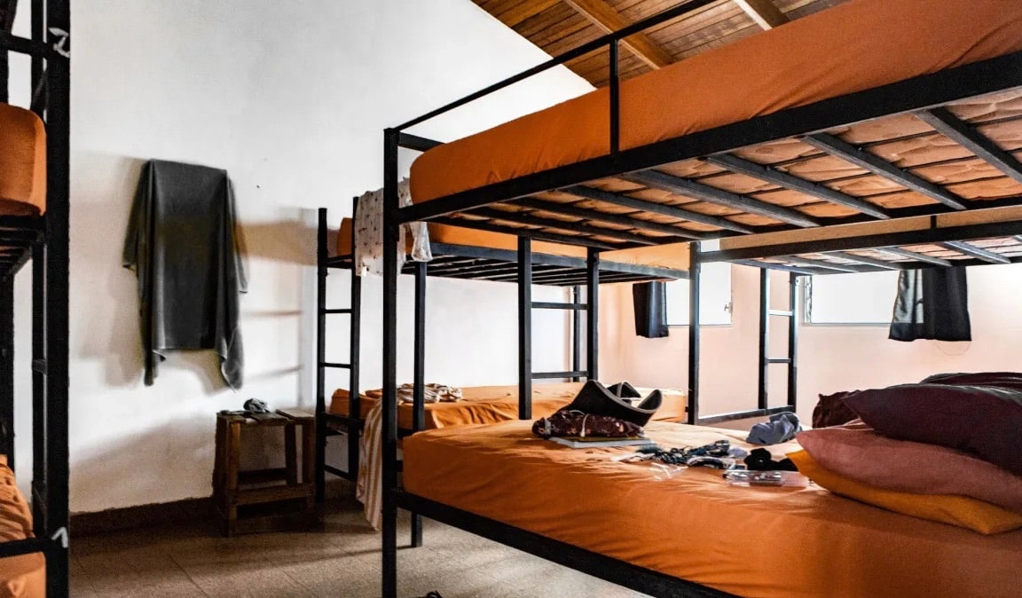 The spacious and empty dorm rooms of Zebulo Hostel in Panama City