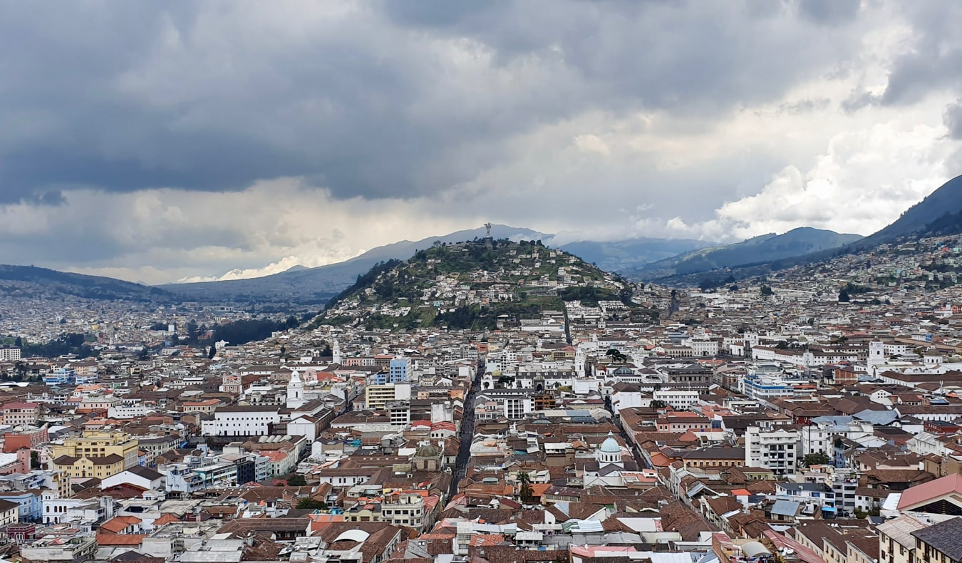 The Bread Roll hill overlooking Quito, Ecuador