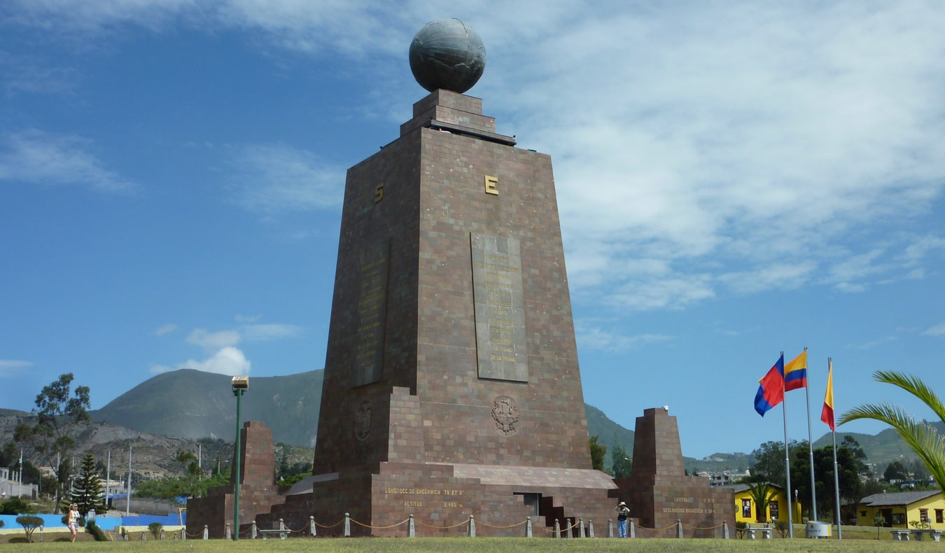 The Mitad del Mundo equator monument near Quito, Ecuador
