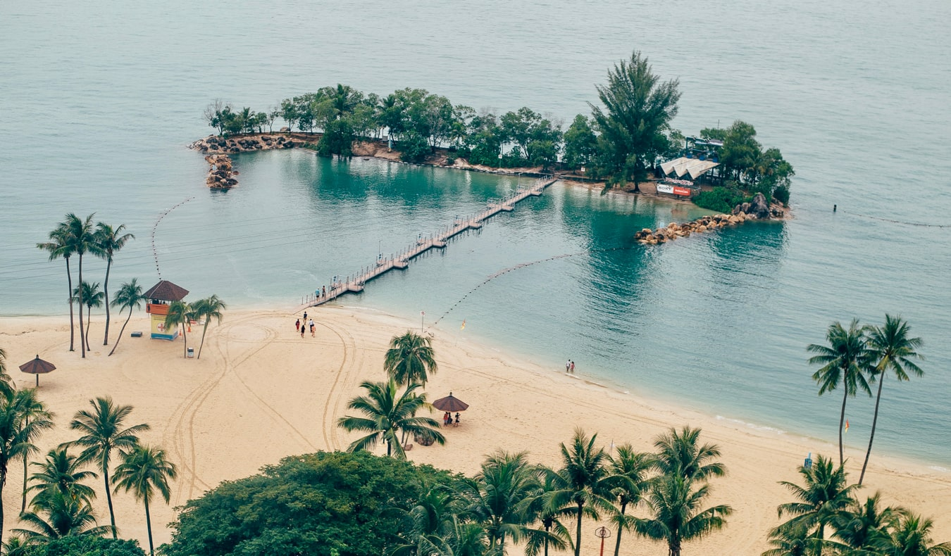 The picturesque beaches of Sentosa Island in Singapore